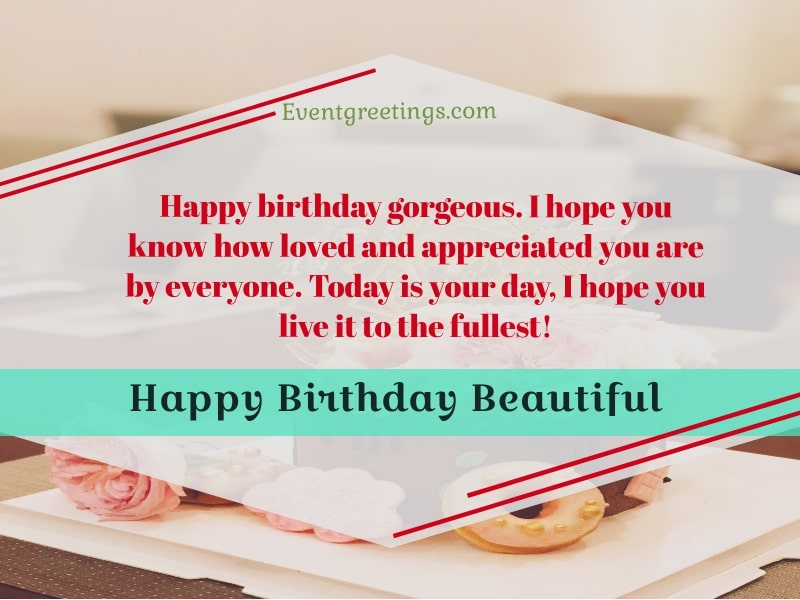 Happy Birthday Beautiful Lady