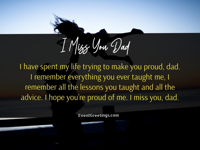 I  Miss You Dad