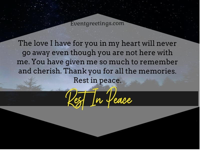 Rest In Peace Message