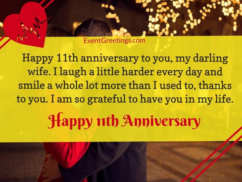 11 Year Wedding Anniversary