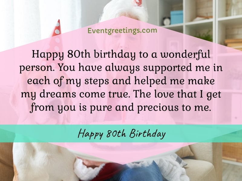 80th birthday wishes