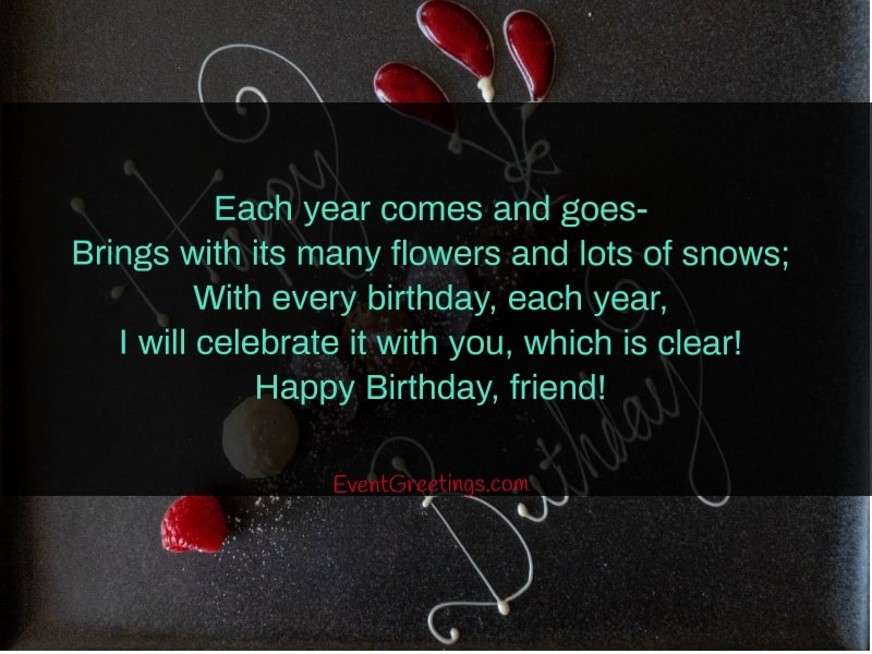 happy birthday poem for friend