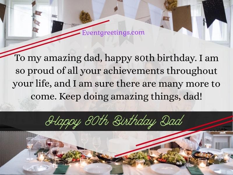 Happy 80th birthday dad (
