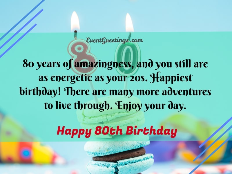 Happy 80th birthday messages