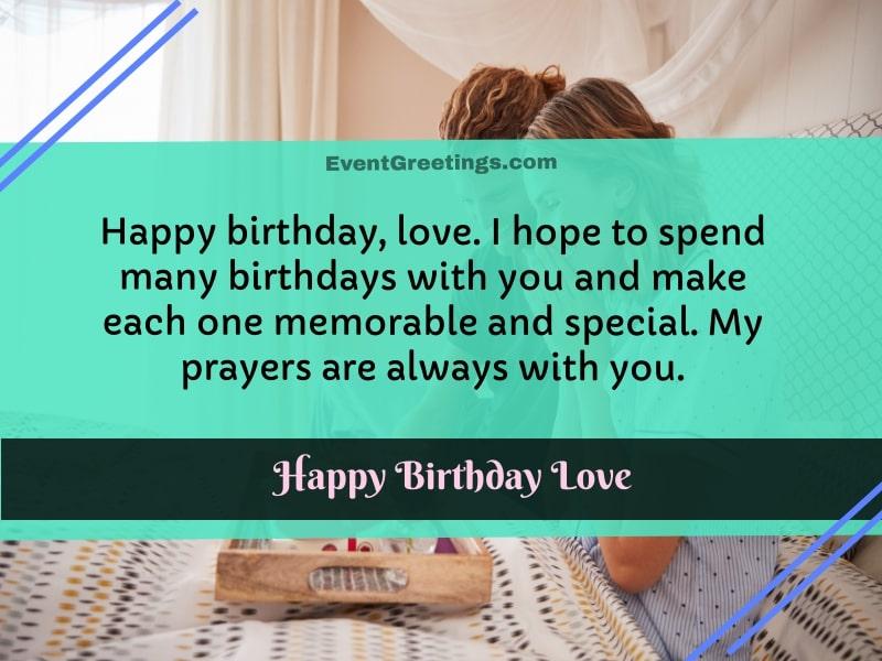 Happy birthday fiance wishes