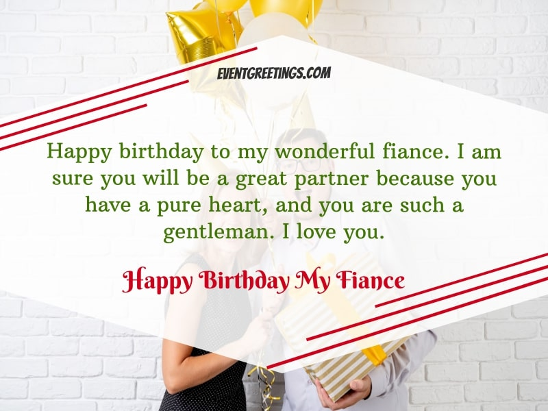 Happy birthday to my fiance messages