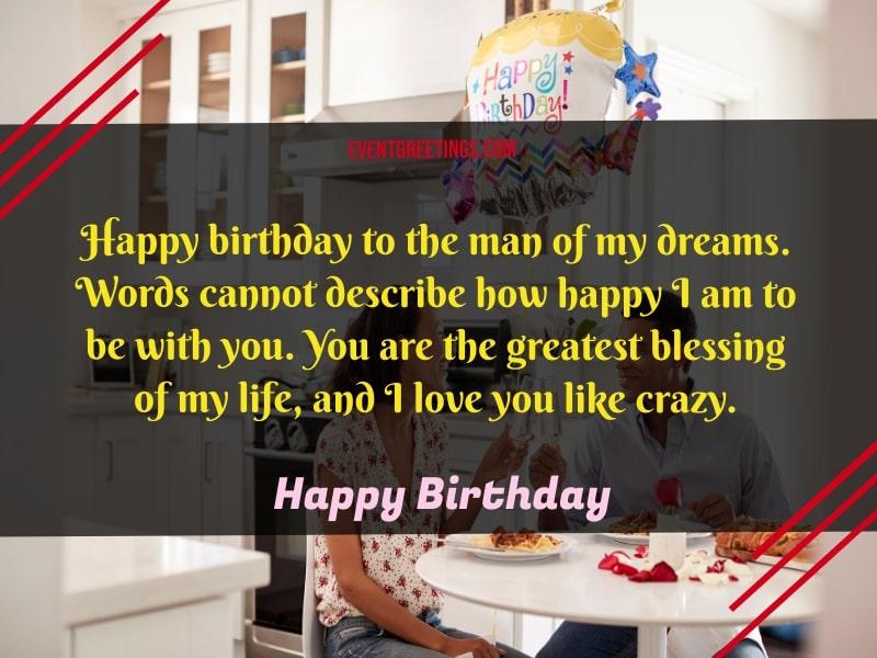 Happy birthday to my fiance wishes