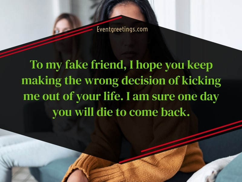 Selfish fake friends quotes
