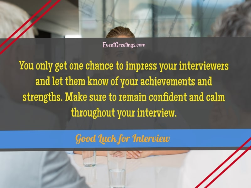 good luck for interview messages