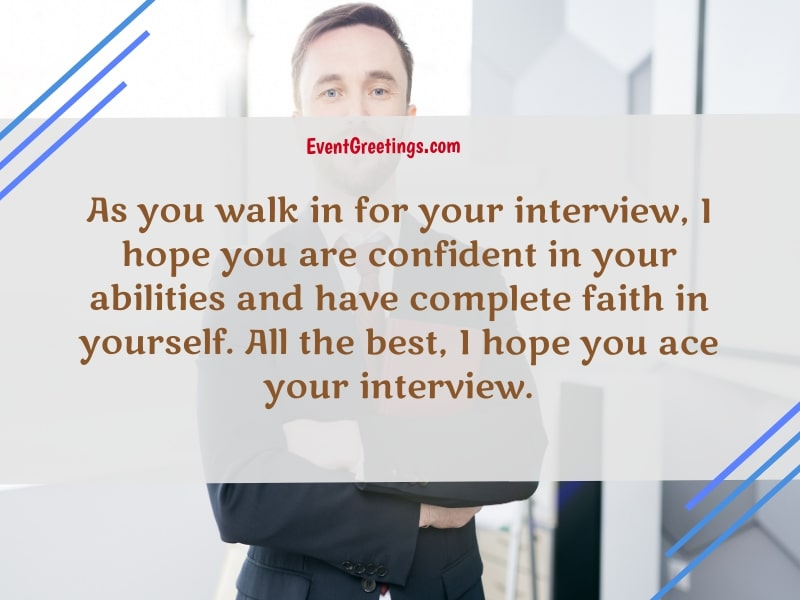 good luck on your interview quotes