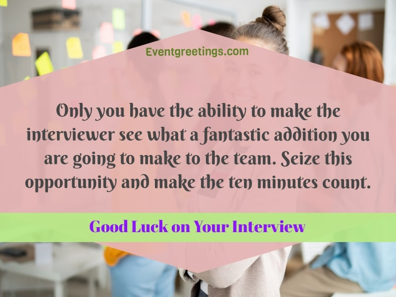 good luck wishes for your interview