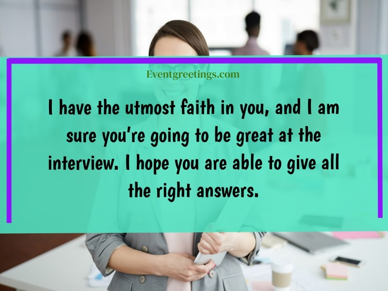 good luck on interview quotes