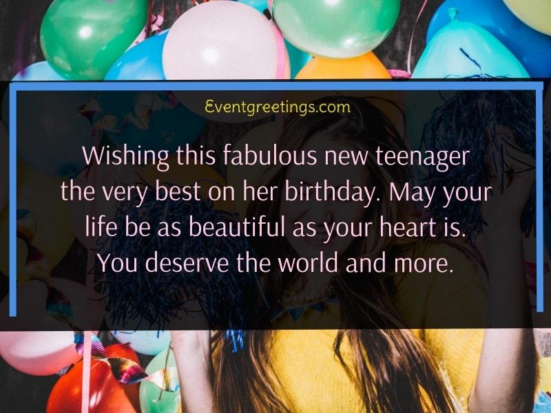 Teenage Birthday Wishes