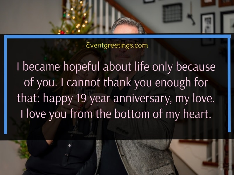 19 year anniversary quotes