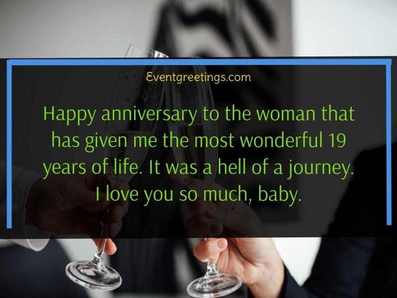 19th wedding anniversary quotes
