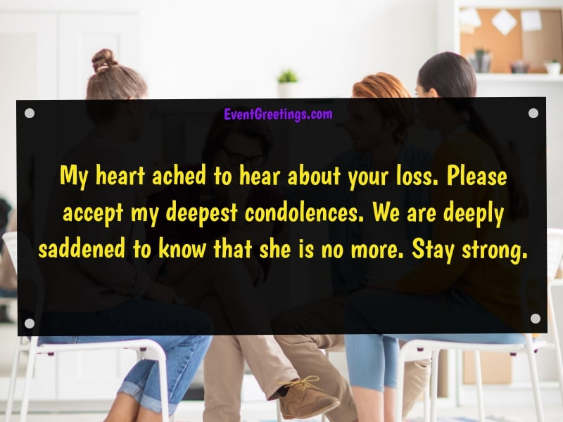 Condolence message to colleague