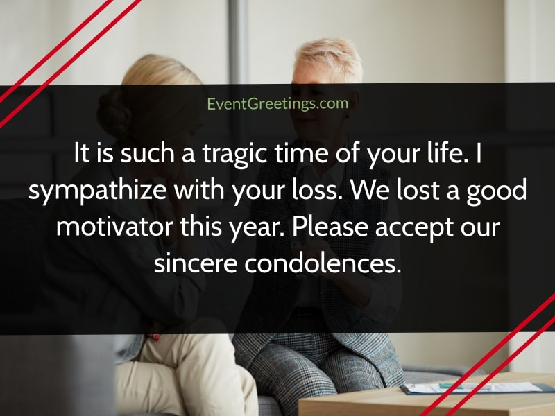 Condolence message for coworker