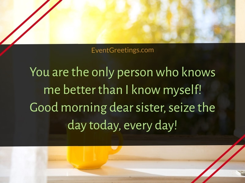 Good Morning Sister Message