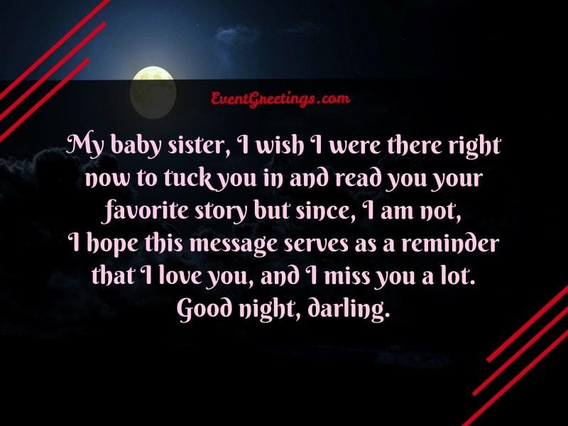 Good Night Sister I Love You