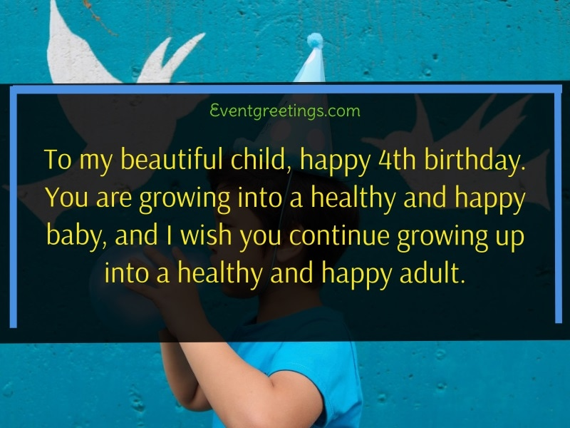 Quotes on 4th Birthday