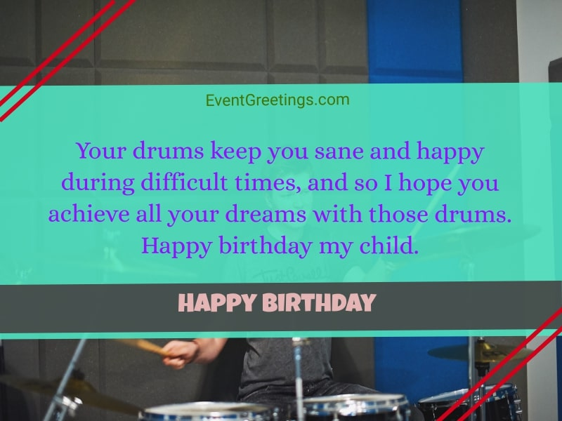 Best Happy Birthday wishes for a drummer