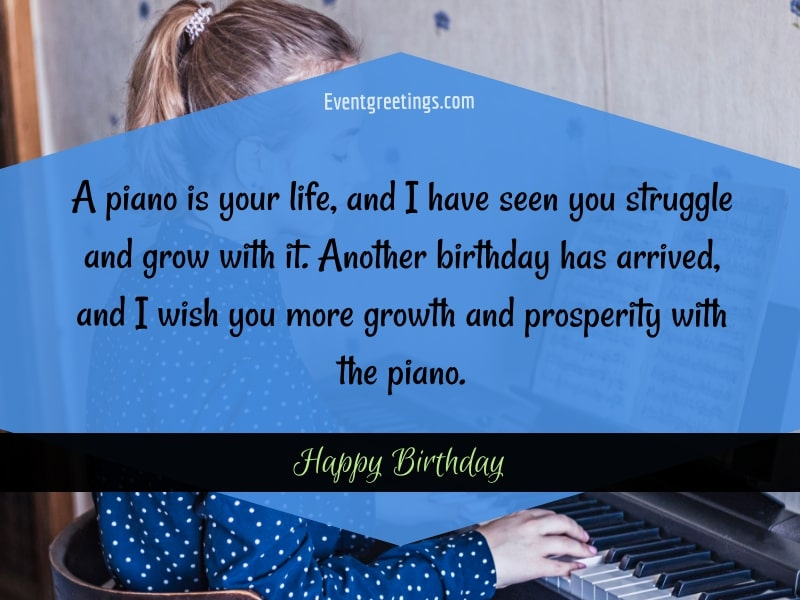 Best Happy Birthday wishes for a pianist