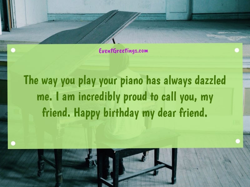 Happy Birthday quotes for a pianist