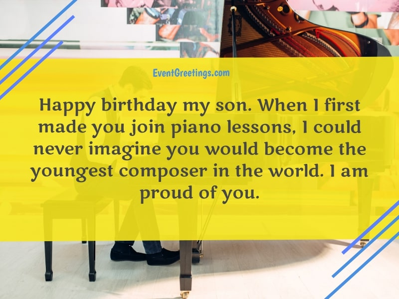 Happy Birthday wishes for a pianist