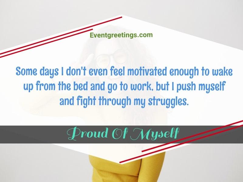 I'm proud of myself quotes