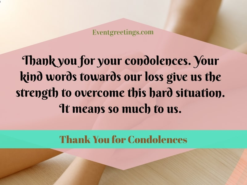 Thank you for condolences quotes