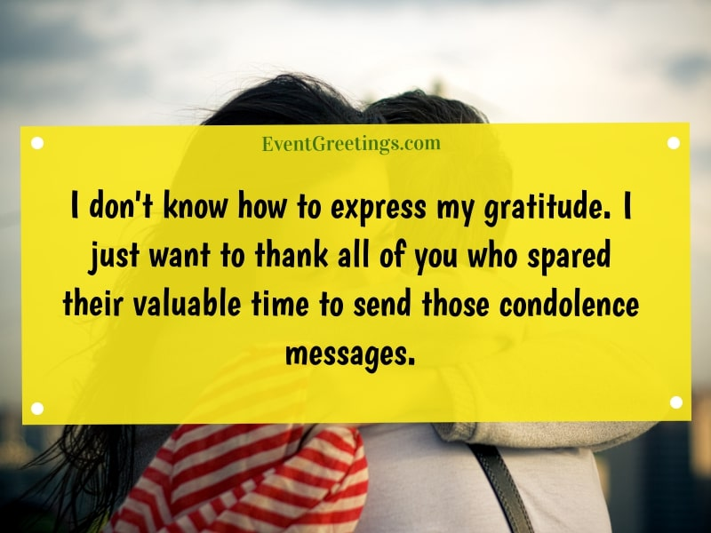 Thank you for your condolences quotes