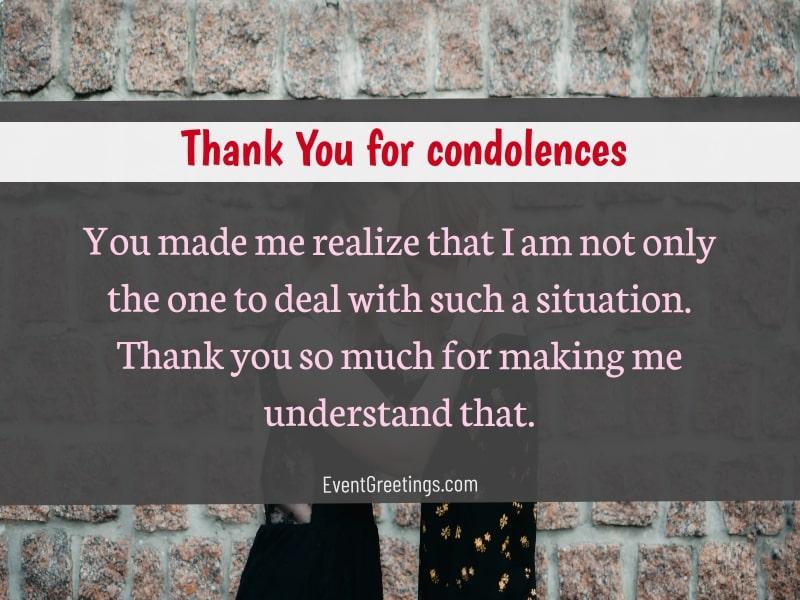 Thank you texts for condolences