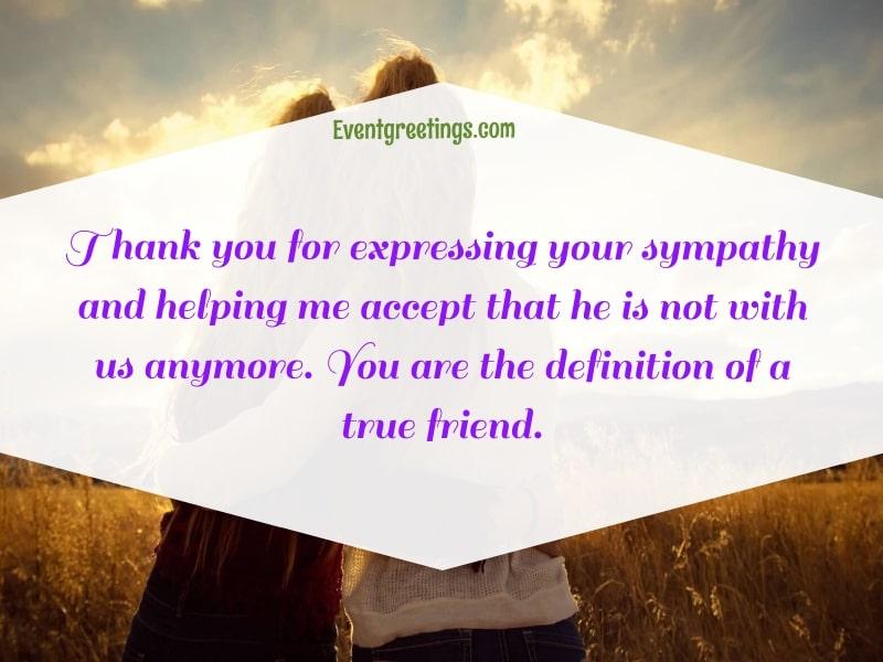 Thank you message for condolences