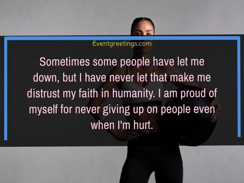 proud of myself