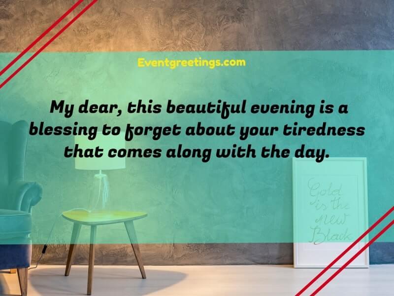 good evening messages