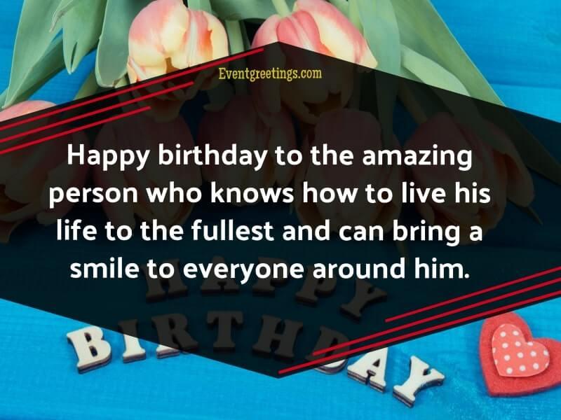 cute Birthday wish for crush male