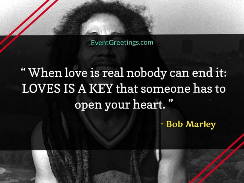 Bob Marley Love and friendship Quotes