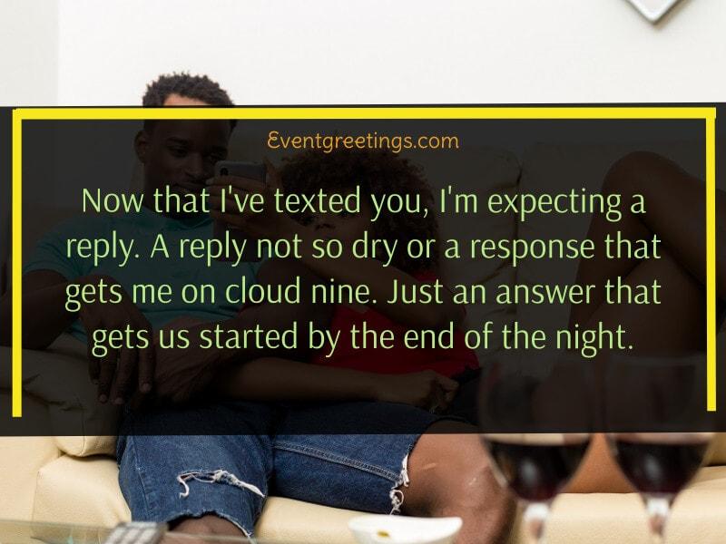 Flirty text for him