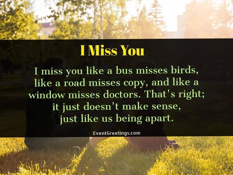 Funny I miss you quotes