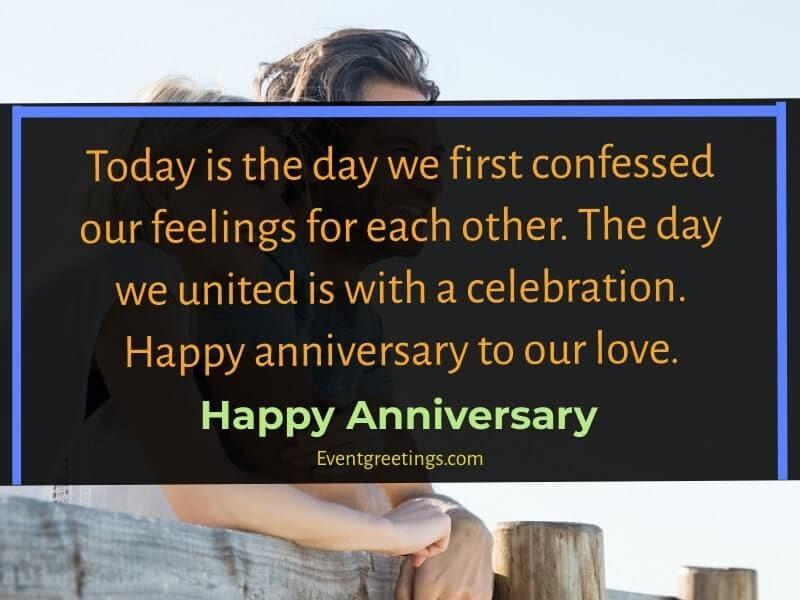cute Happy anniversary to us