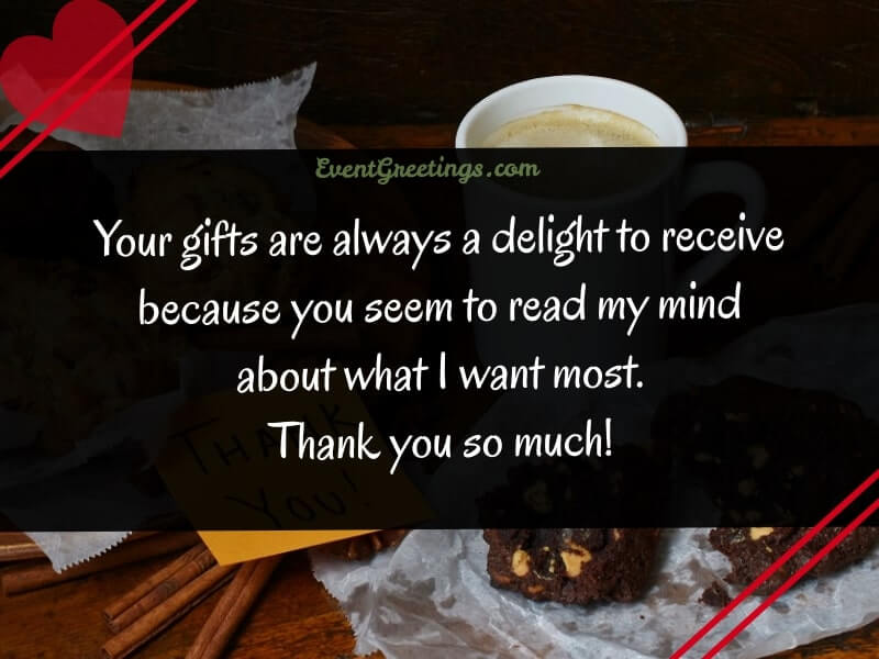 Thank you Note For Gift