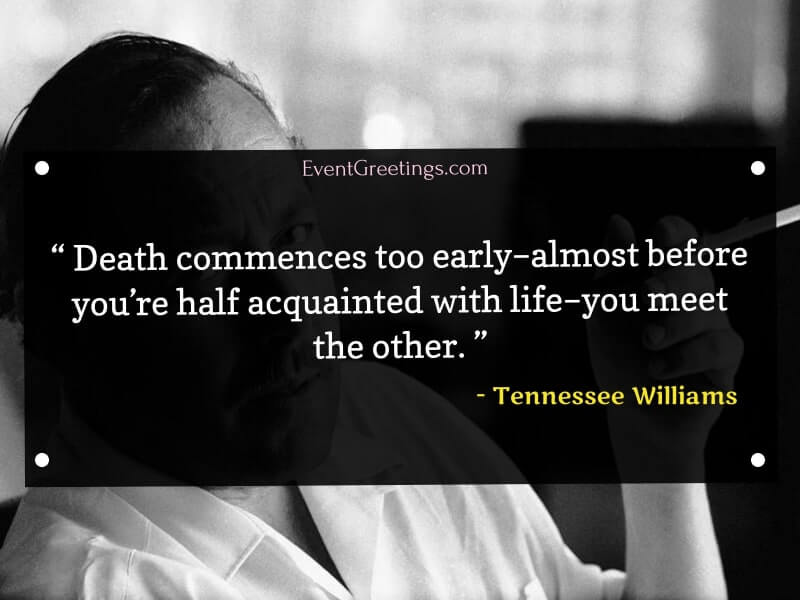 tennessee williams quotes about death
