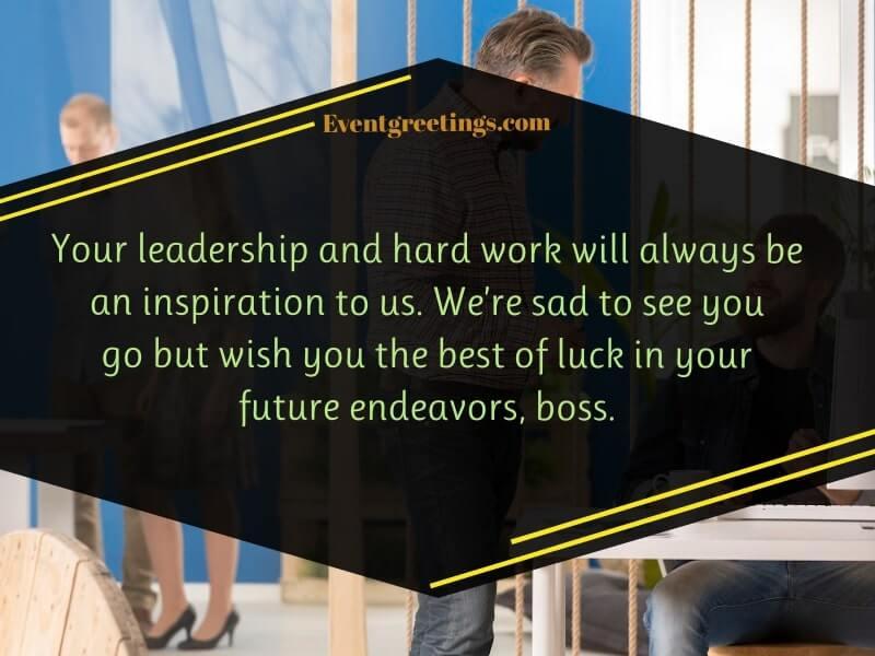 Farewell Message for Boss