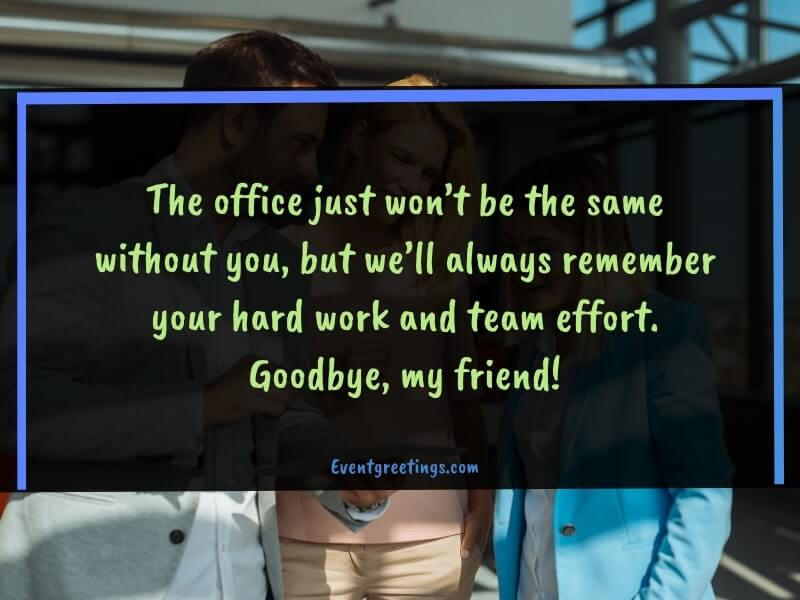 Farewell Message for Colleague