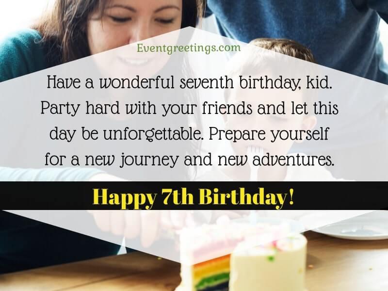 Happy 7th Birthday Boy