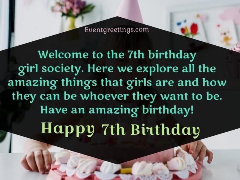 Happy 7th Birthday Girl
