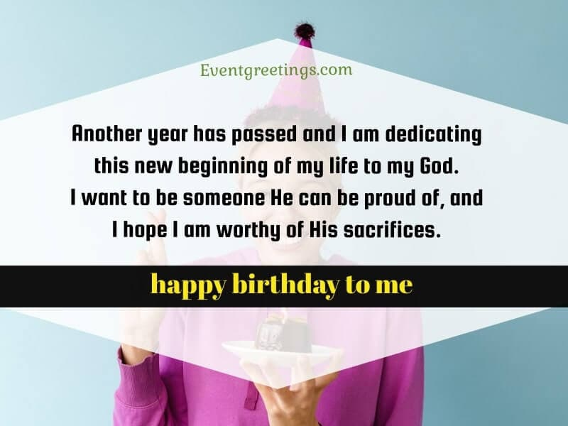 Thank You God For Another Year Of Life