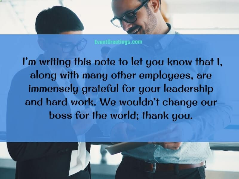 Thank You Note for Boss
