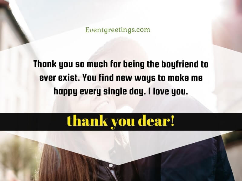 Thank You Quotes for Boyfriend