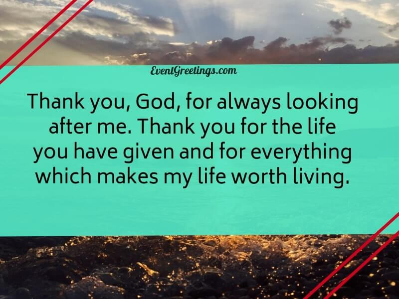 Thank you god quote